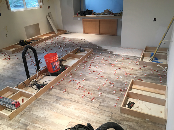 tile leveling, kitchen remodeling, bathroom remodeling, plank tile, wood tile, reno construction, sparks, nevada, nv, reno,
